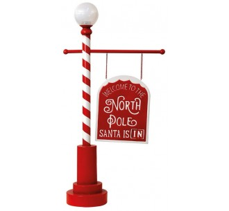 Christmas decorative sign with solar panel